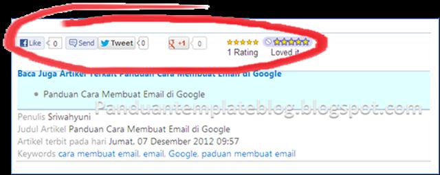 Cara Memasang Tombol Like, Twitter, Google +