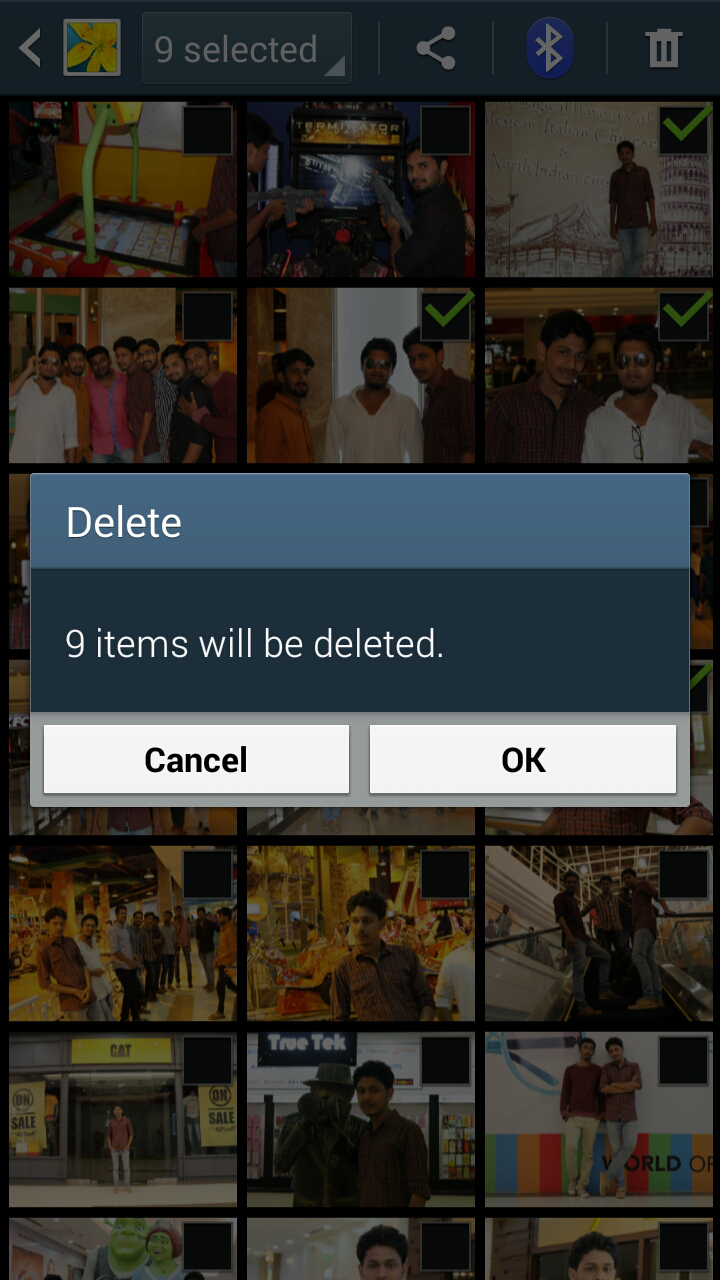 android gallery delete option