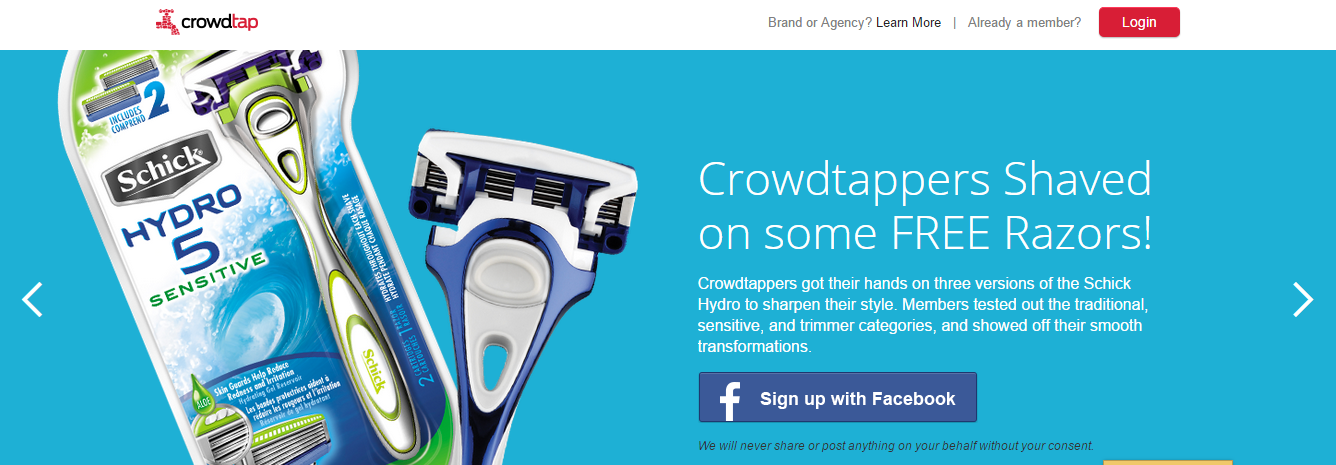 Earn Gift Cards, Sample Products with Crowdtap