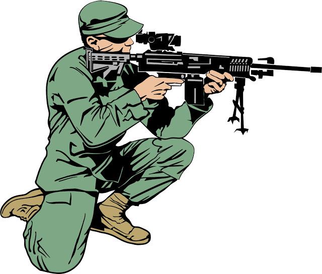 Desenho Dia do Soldado colorido