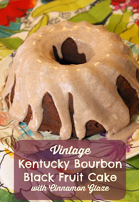 Southern Bourbon Fruit Cake with Pecans
