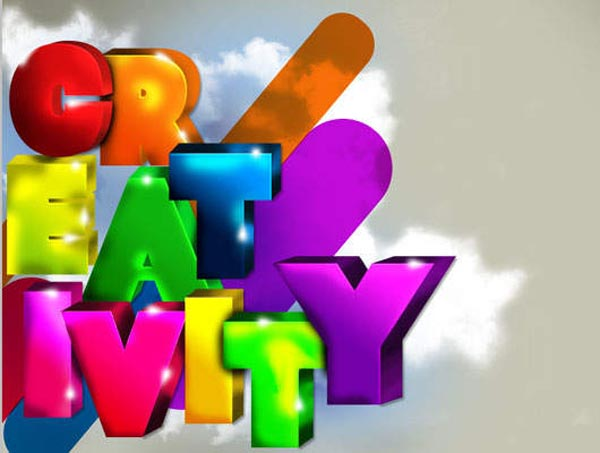 How to make 3D text Effect of 'candy-like luminosity' with photoshop