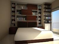 3d model interior bedroom vray