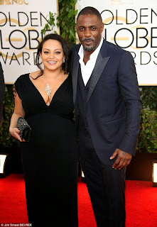 Idris Elba and pregnant girlfriend at the Golden Globes in LA