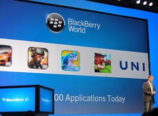 Blackberry 10 Didukung 70 Ribu Aplikasi dan 150 Operator