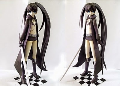 Papercraft Black Rock Shooter Mato Kuroi