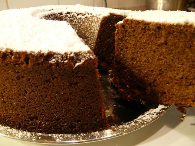 Cake au chocolat et à l'orange P1030654.JPG