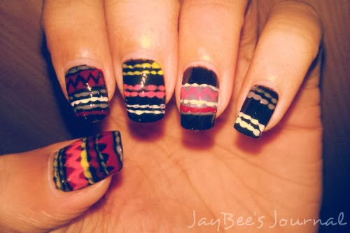 Black-Tribal-Jumper-Nails-Nail-art