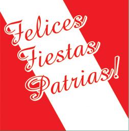 ¡¡FELICES FIESTAS PATRIAS!!
