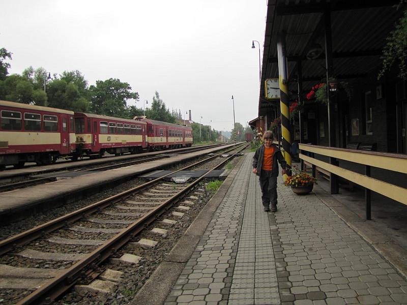 Frenštát pod Radhoštěm (niem. Frankstadt, pol. Frensztat pod Radhoszczem) - dworzec.