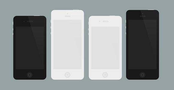 Flat iPhone 4/5 mockups
