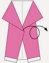 Bước 4: Lật mặt đằng sau ra đằng trước.