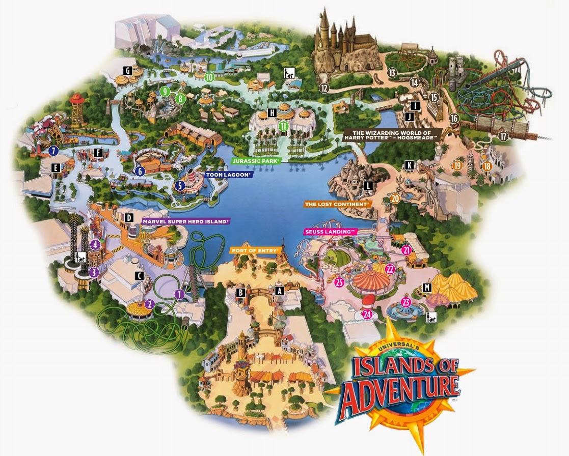 Map Island Adventure Orlando