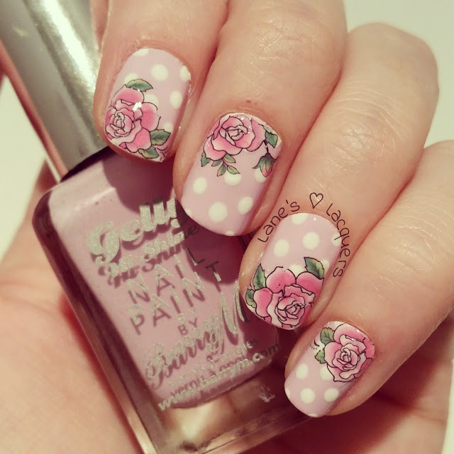 lilac-polka-dot-rose-nail-art