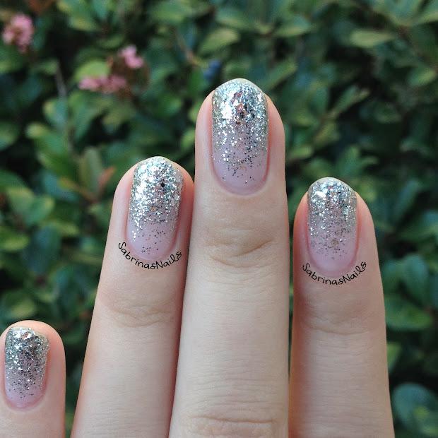 sabrinas nails silver glitter