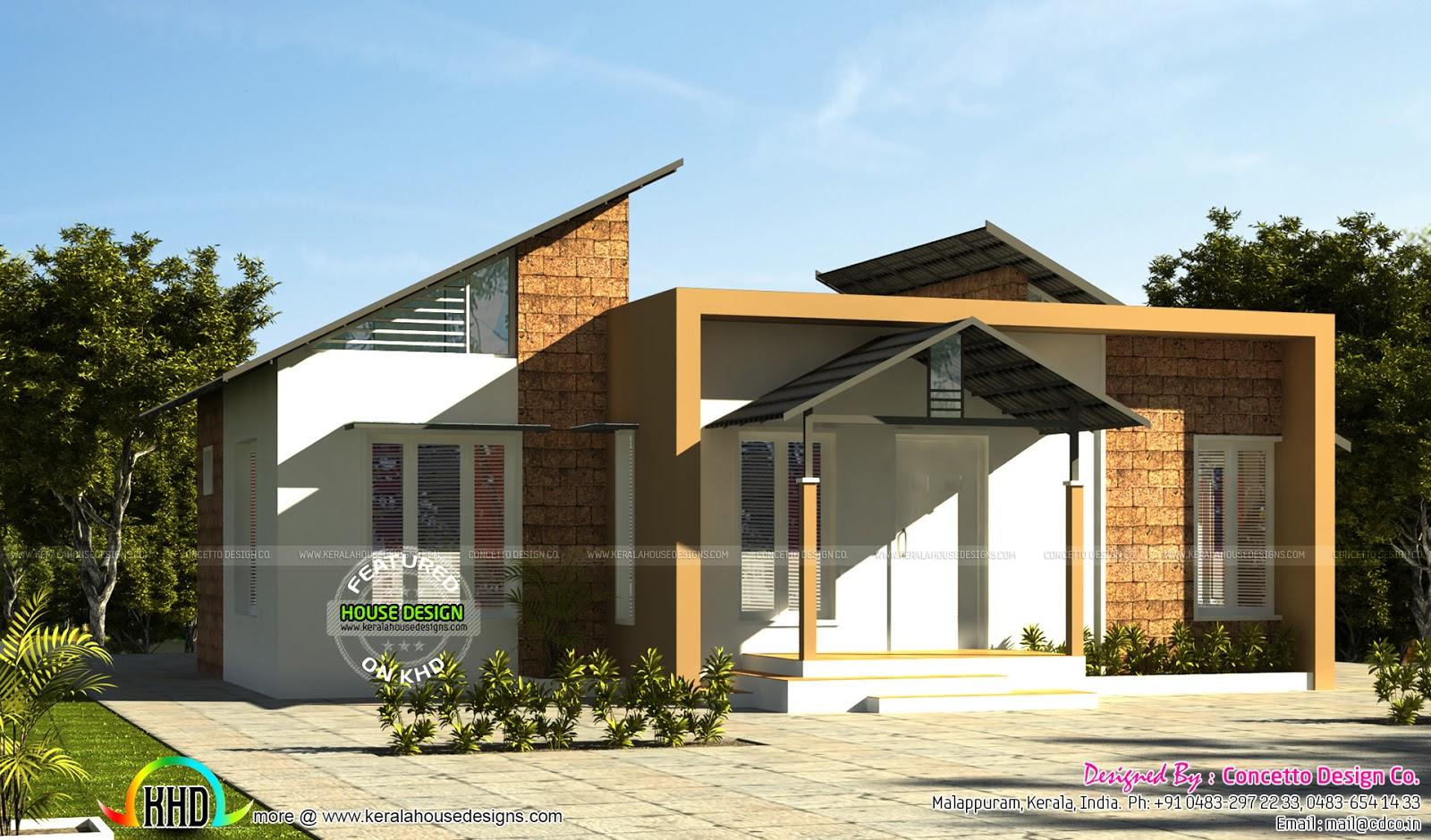 Contemporary style budget home kerala home design and for Modern house design budget