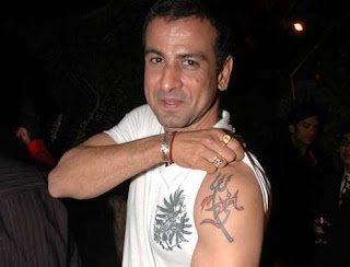 TV Actor Ronit Roy Tattoos