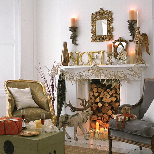 Christmas Decoration Ideas for Fireplace Ideas for home  : Christmas Mantel Fireplace Decorating Ideas for 201205 from www.ideasforhomedecoration.com size 600 x 600 jpeg 141kB