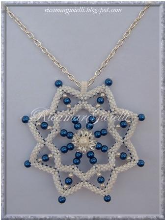 snowflake in peyote e perle
