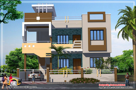 Contemporary India house plan 2185 Sq Ft