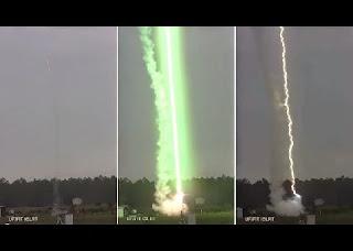 Uma equipe de físicos conseguiu provocar um raio elétrico e gravá-lo com absoluta precisão de imagem e som. Isso aconteceu graças ao uso de um microfone especial e de um mecanismo no qual foi utilizado um foguete conectado por fios, para gerar o impacto de um raio.