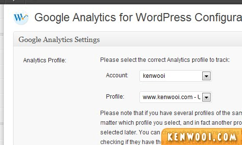 wordpress plugin google analytics