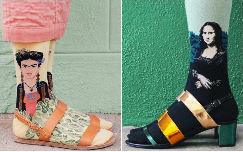 Frida Kahlo Mona Lisa Artistic Socks