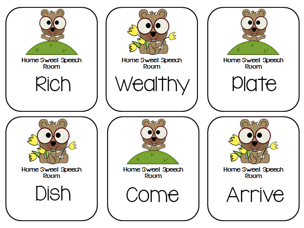 Groundhog day synonym and antonym cards for Coute synonyme