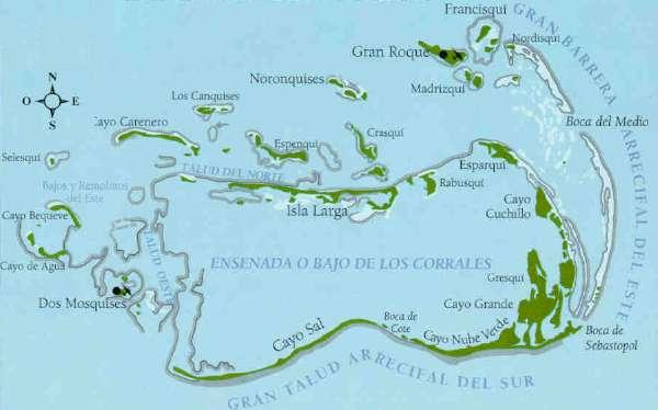 Isla los roques mapa