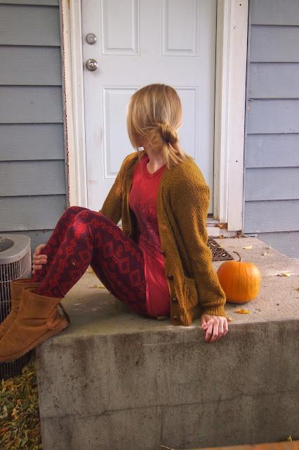 maroon+print+leggings - Stepping Stones