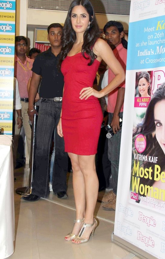 Katrina Kaif in Red Dress at People Launch1 - Katrina Kaif Peoples Magazine Launch Party Pics