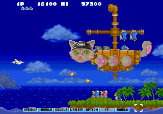 Parodius Da Pirate Cat Battleship MK I Sega Saturn