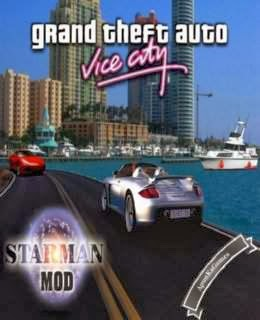 Grand Theft Auto Vice City Starman MOD Cover, Poster