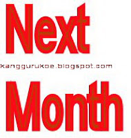 next month, future, the future, bulan depan, bulan selanjutnya, study english