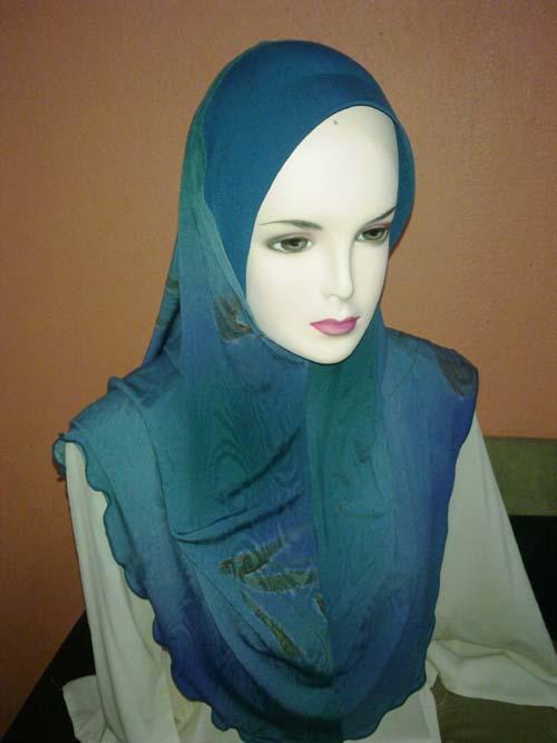 Tudung Lycra Corak Batik