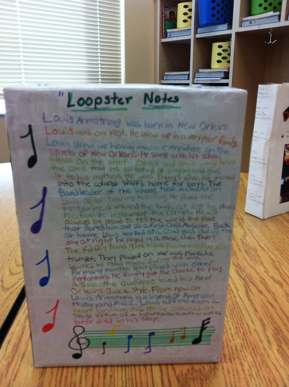 biography cereal box book report