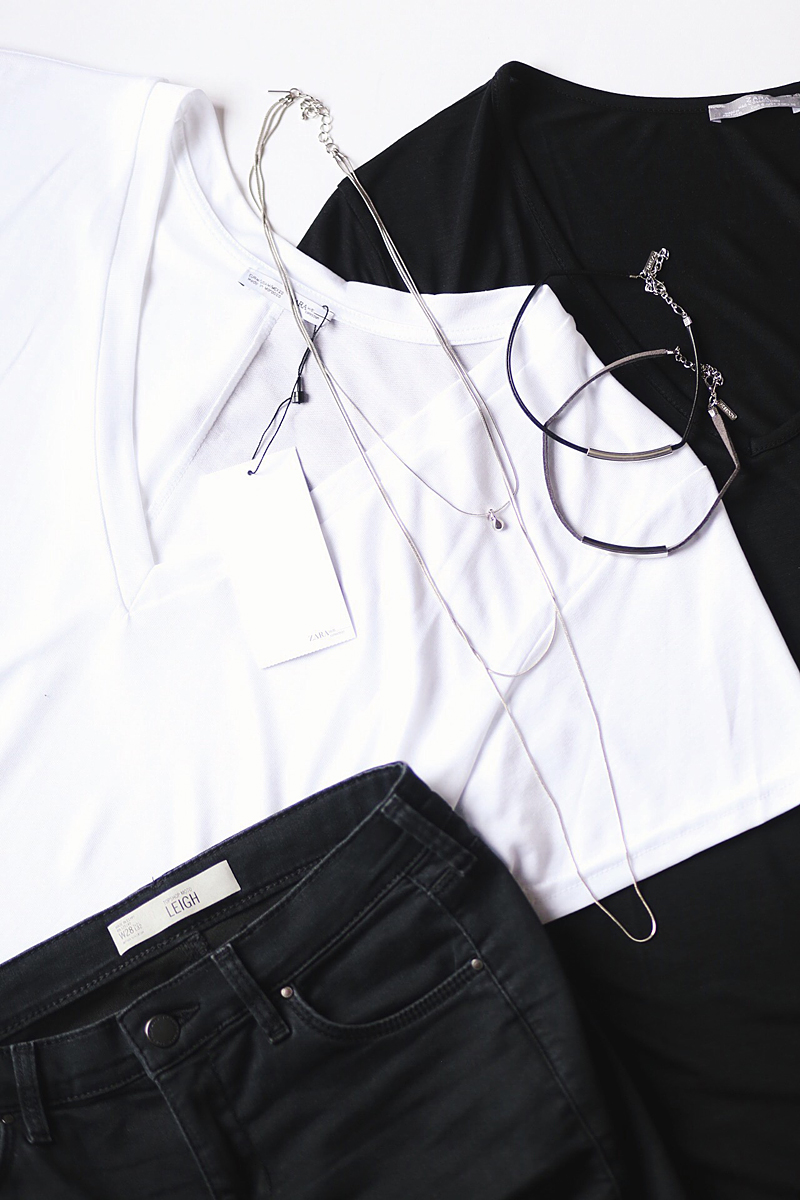 Zara and Topshop Haul, Black, White and Minimal.