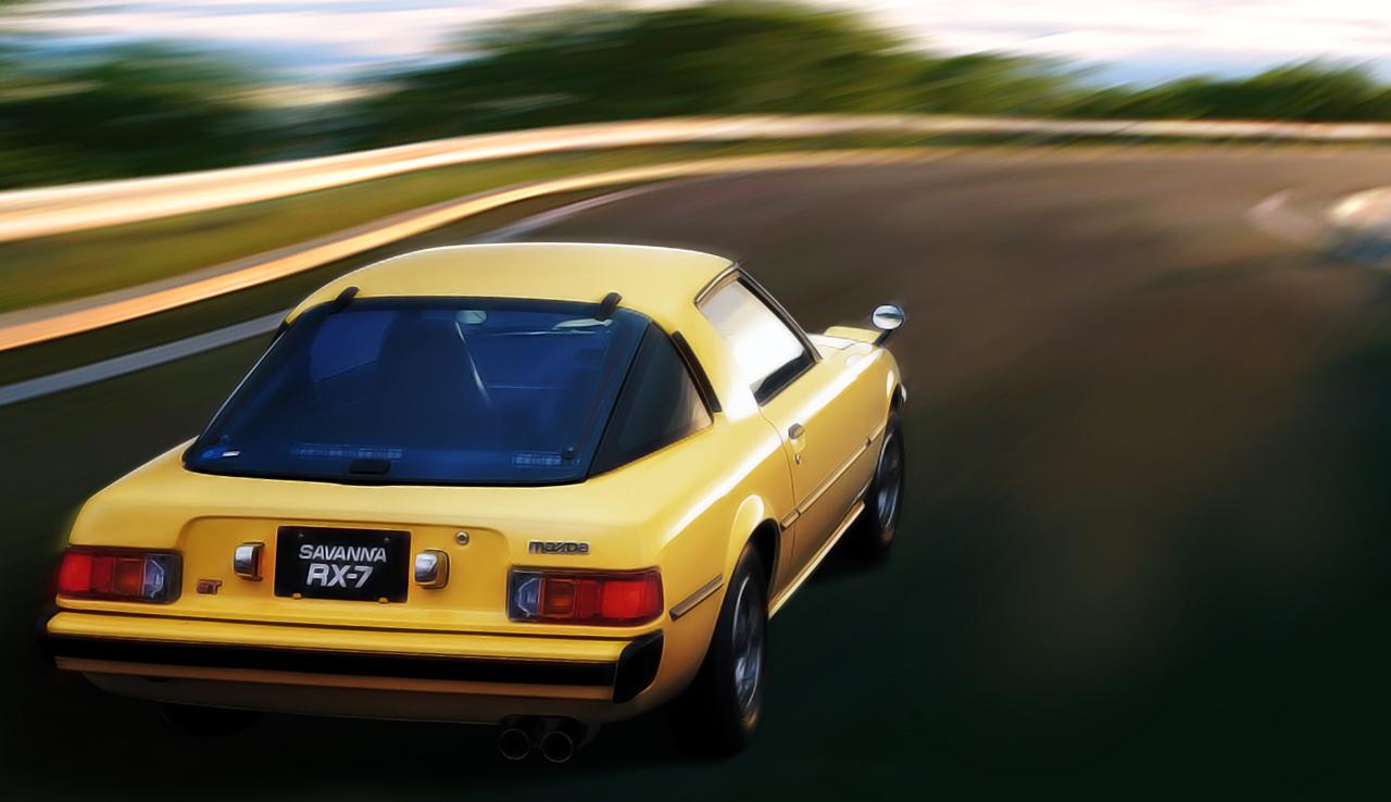 Mazda RX-7, Savanna, silnik wankla, sportowy samochód z dusza, kultowy, klasyk, stare auto