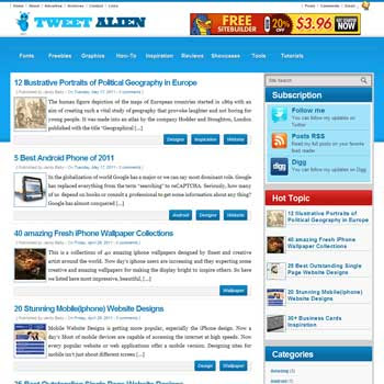 Tweet Alien blogger template