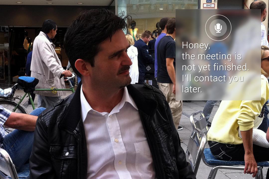 Handenvrij texting en chatting met Google Glass