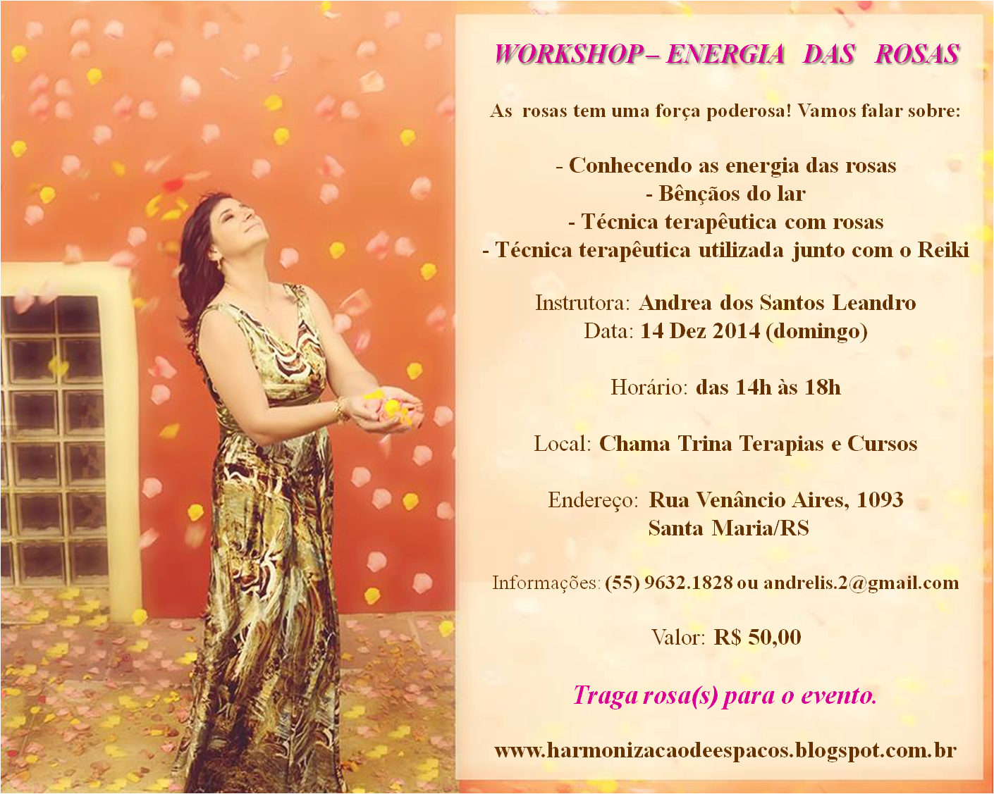 Workshop Energia das Rosas