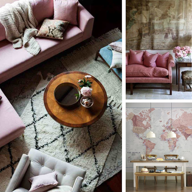 pink inspiration board  •  the round button blog