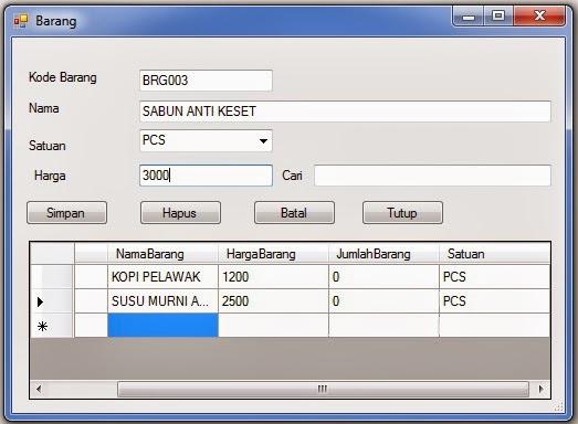 Membuat Form Barang Dengan Visual Basic 2010 | Free Source Code Visual ...
