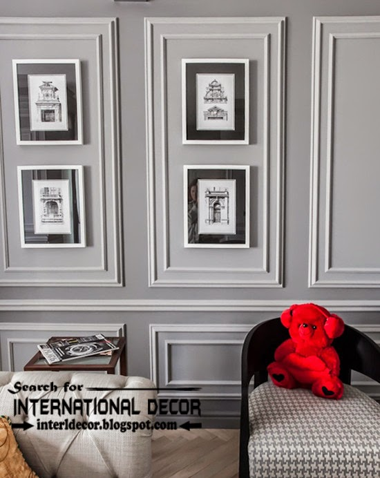 Decorative wall molding or wall moulding designs ideas and panels, frame molding
