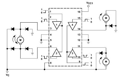 Circuitos com a L293