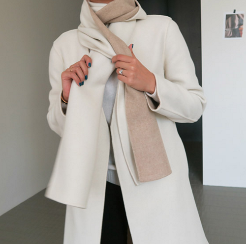 Wool Scarf and Coat Set