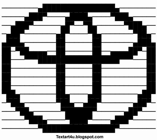 Toyota Logo Ascii Copy Paste Text Art Cool Ascii Text Art 4 U