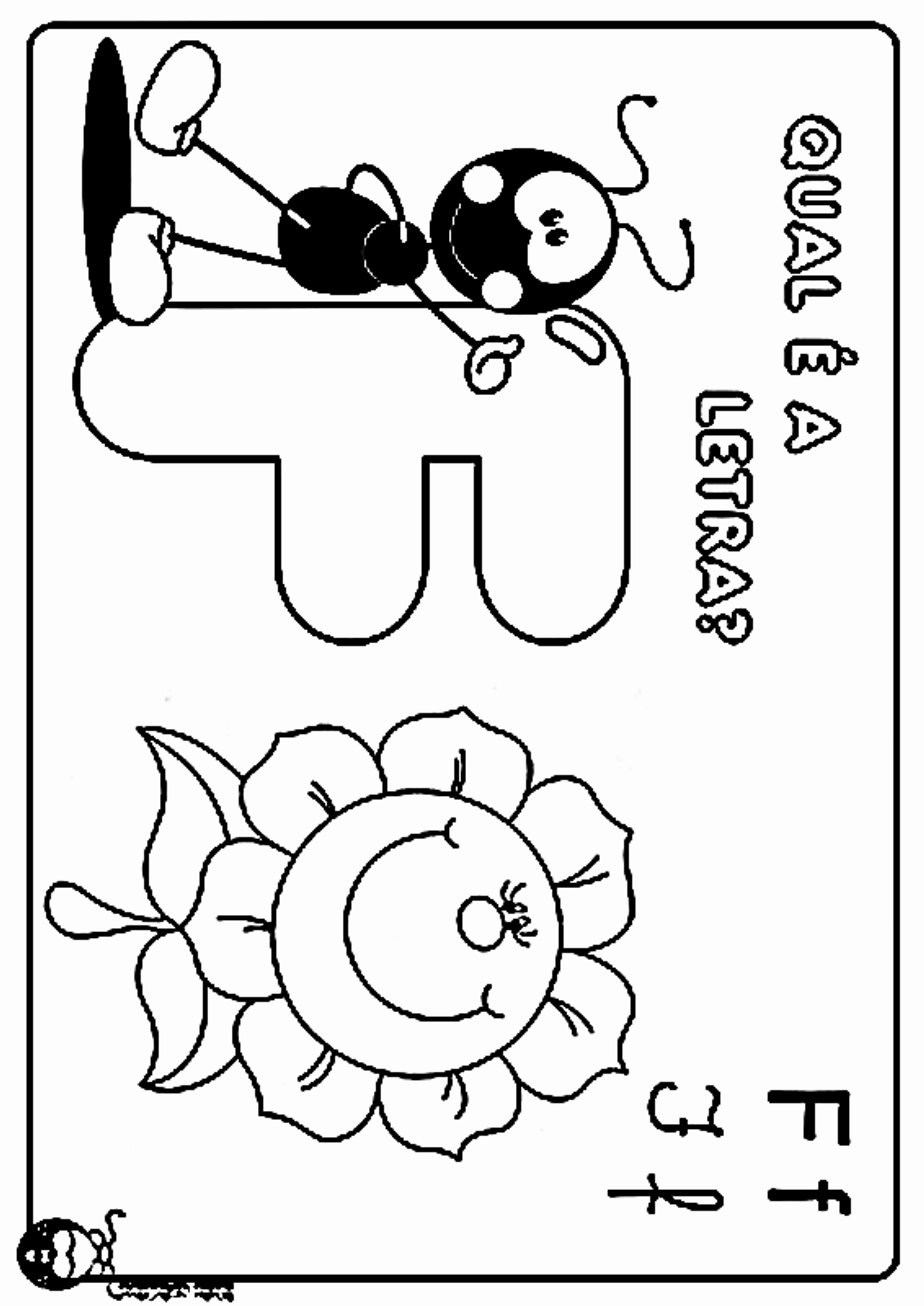 Desenhos Para Colorir letras do alfabeto letra F