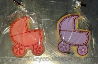 fancy cookies aqiqah baby stroller pink purple with sewing line