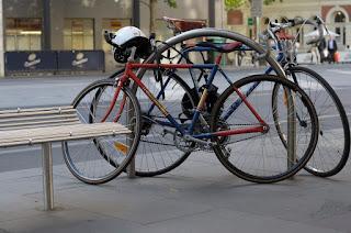 Austral, bike, bicycle, the biketorialist, biketorialist, single speed, fixed speed, fixie, Melbourne, Victoria, Australia, swanston Rd, red, frame, velocity , tim macauley, timothy macauley,